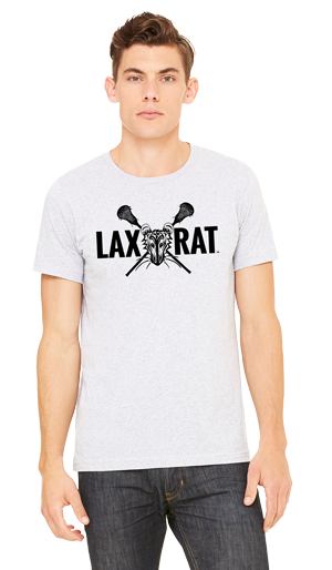 LAXXRAT full logo screen printed on a white T-Shirt